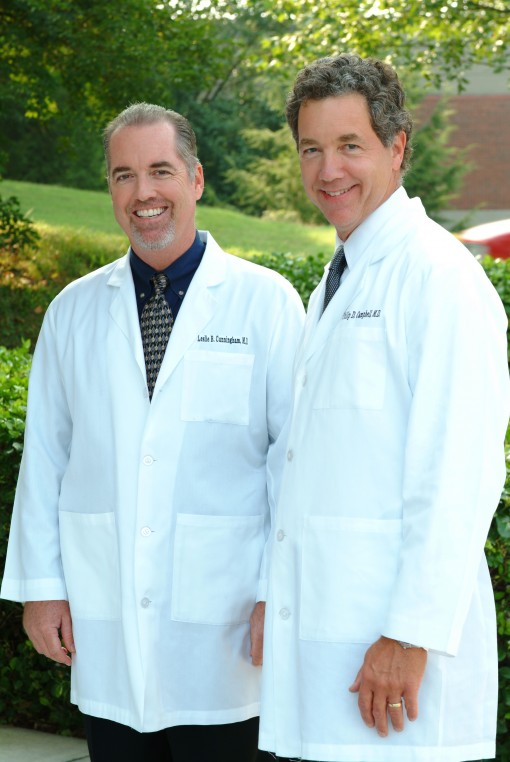Dr. Philip Campbell and Dr. Les Cunningham
