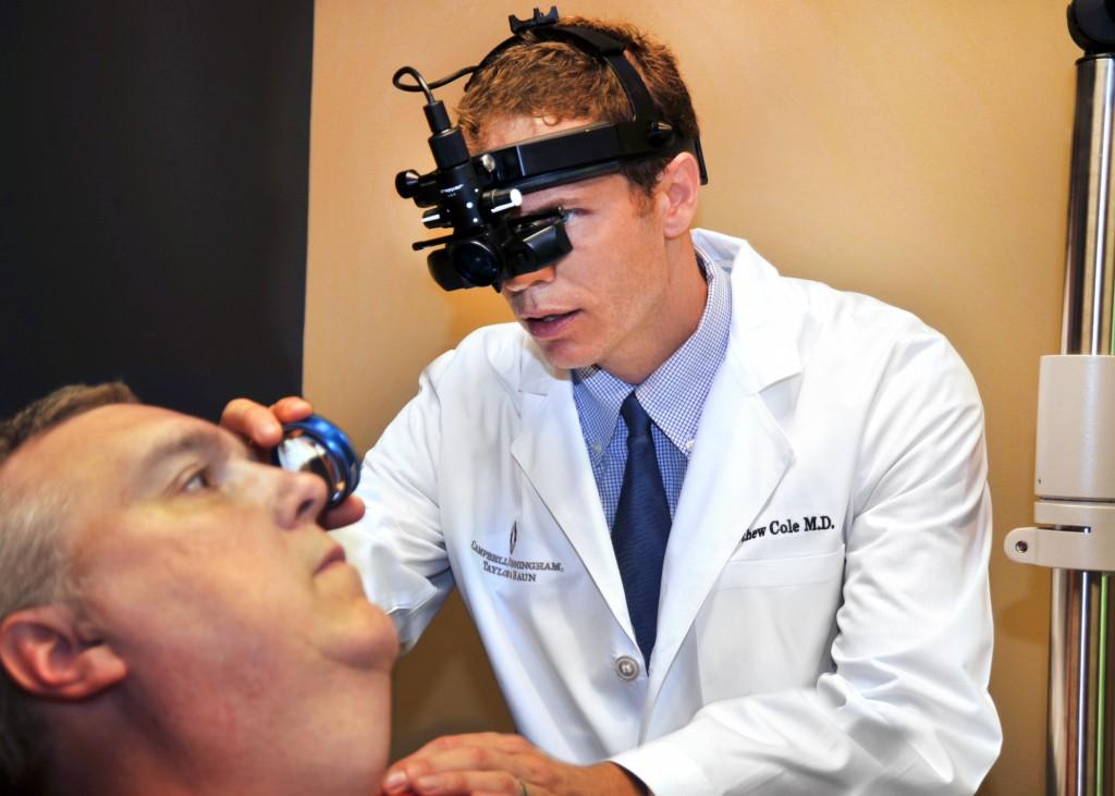 Dr. Cole with patient