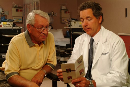 Dr. Campbell with patient